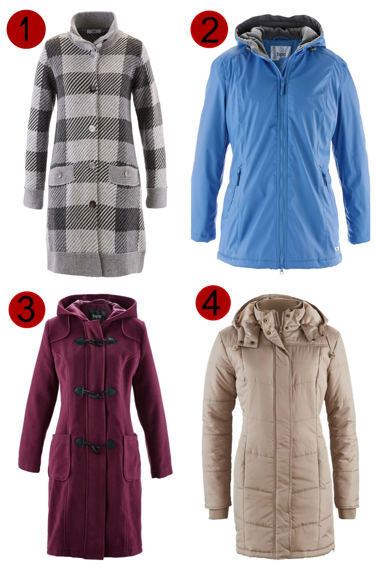 6869515a52b15 Winter Plus Size Coats bonprix duffle quitled waterproof checked wool